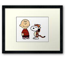 calvin and hobbes meets peanuts Framed Print