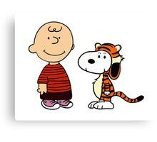 calvin and hobbes meets peanuts Canvas Print