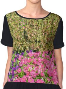 Natural background with many colorful plants. Chiffon Top