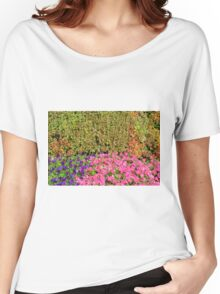 Natural background with many colorful plants. Women's Relaxed Fit T-Shirt