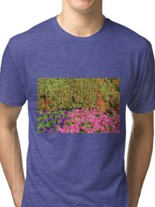 Natural background with many colorful plants. Tri-blend T-Shirt