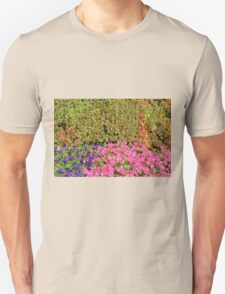 Natural background with many colorful plants. Unisex T-Shirt