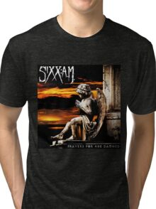 SIXX AM PRAYERS TOUR ALBUMS 2016 Tri-blend T-Shirt