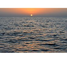 Sunset by the sea. Photographic Print