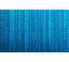 Binary Code Photographic Print