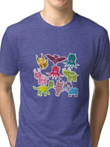 Funny monsters Tri-blend T-Shirt
