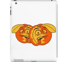 fruit comic cartoon face disgust funny team buddies peach tasty couple iPad Case/Skin