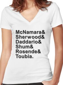 Shadowhunters Names Women's Fitted V-Neck T-Shirt