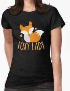 Foxy lady super cute kawaii foxy Womens Fitted T-Shirt