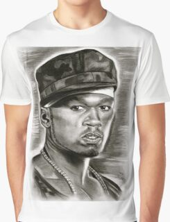 50 cent in black and white Graphic T-Shirt