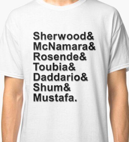 Shadowhunters Cast Names Classic T-Shirt