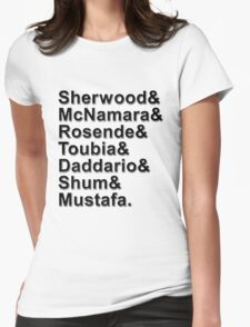 Shadowhunters Cast Names Womens Fitted T-Shirt