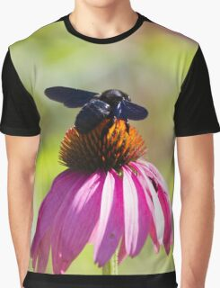bee on echinacea in the garden Graphic T-Shirt