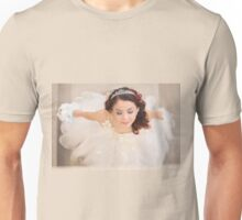 beautiful bride in white dress Unisex T-Shirt