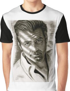 G. Clooney in black and white Graphic T-Shirt