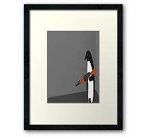 Crazy Penguin Framed Print