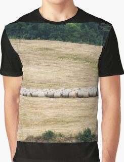 hilly landscape with hay Graphic T-Shirt