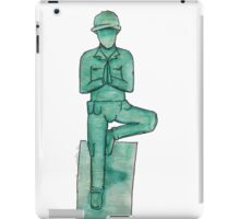 Toy soldier yoga iPad Case/Skin