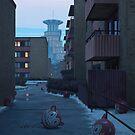 Hägerstalunds Hopptorn by Simon Stålenhag