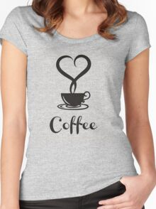 I  love Coffee Women's Fitted Scoop T-Shirt