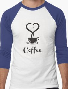 I  love Coffee Men's Baseball ¾ T-Shirt