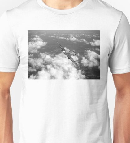 Hawker Hurricane IIB of 174 Squadron B&W version Unisex T-Shirt