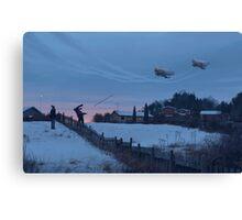 Flodhästen och Datamongot Canvas Print