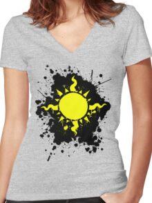 Homestuck Light aspect logo Women's Fitted V-Neck T-Shirt