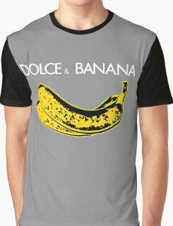 Dolce & Banana - Bananas Lovers Fruitarians Vegan Fashion  Tee / Sticker Graphic T-Shirt