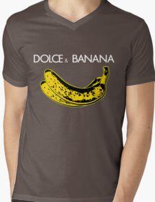 Dolce & Banana - Bananas Lovers Fruitarians Vegan Fashion  Tee / Sticker Mens V-Neck T-Shirt