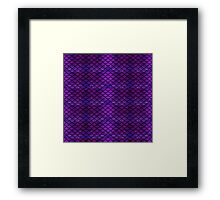 Purple & Blue Mermaid Scales Framed Print