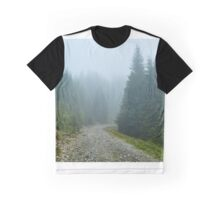 Mountain road in a foggy day Graphic T-Shirt