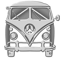 Road trippin hippie mini bus Photographic Print