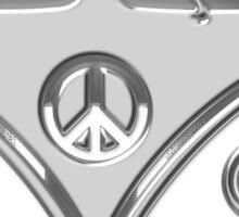 Road trippin hippie mini bus Sticker