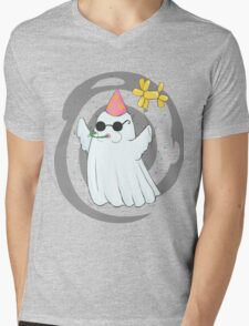 Party Ghost Mens V-Neck T-Shirt