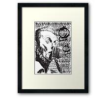 ROCKNROLL Framed Print