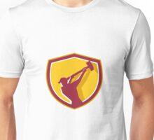 Demolition Worker Sledgehammer Crest Retro Unisex T-Shirt