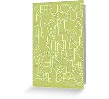 Wilde - Keep Love - Typography Greeting Card