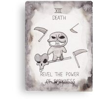 Binding of Isaac themed tarot card: Death Canvas Print