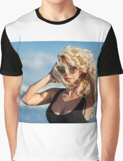 Sexy woman on the sea shore Graphic T-Shirt