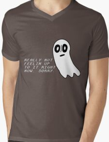 Undertale: Really not feeling up to it. Mens V-Neck T-Shirt