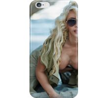 Gorgeous sexy blond on the beach iPhone Case/Skin