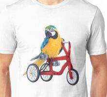 Parrot Macaw bike red Unisex T-Shirt
