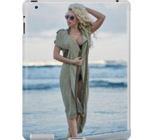 Beautiful woman on the sea shore iPad Case/Skin