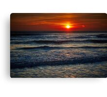 Colorful sunrise over the sea Canvas Print