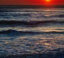 Colorful sunrise over the sea Sticker