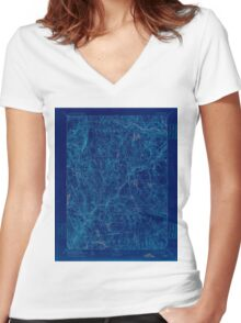 USGS TOPO Map Connecticut CT Gilead 331028 1892 62500 Inverted Women's Fitted V-Neck T-Shirt