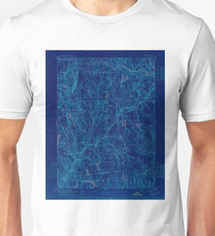 USGS TOPO Map Connecticut CT Gilead 331028 1892 62500 Inverted Unisex T-Shirt