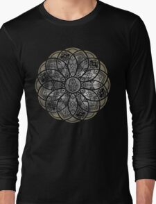 Ornamental Hamsa Mandala Grunge Long Sleeve T-Shirt