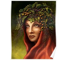 Keeper of the wood - nature goddess Poster